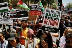 الآلاف يتظاهرون أمام مقر الحكومة البريطانية دعماً للفلسطينيين.. طالبوا مجموعة السبع بوقف دعم إسرائيل