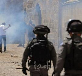 إصابات برصاص قوات الاحتلال بعد تجدد المواجهات داخل المسجد الأقصى