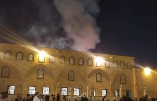 السيطرة على حريق في المسجد الأقصى- صور