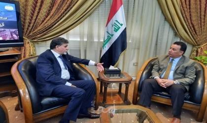 عبد الهادي يطلع سفير العراق على أخر المستجدات في فلسطين
