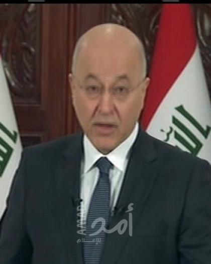 الرئيس العراقي ورئيس الورزاء يؤكدان إجراء الانتخابات في موعدها المحدد